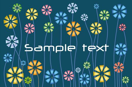 abstract floral pattern for text Stock Vector - 12379269