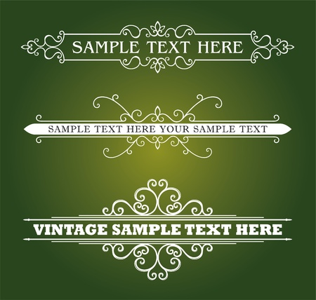 Calligraphic old elements vintage decor, vector Stock Vector - 12379288