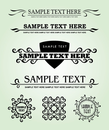 Calligraphic old elements vintage decor, vector Stock Vector - 12379292