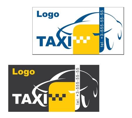 taxi: tarjeta de visita taxista, el vector Vectores