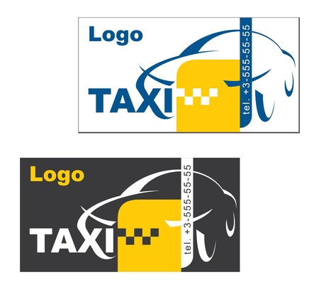 fare: visiting card taxi driver, vector