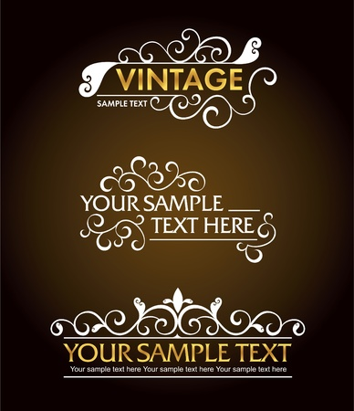 Calligraphic old elements vintage decor Stock Vector - 13286632