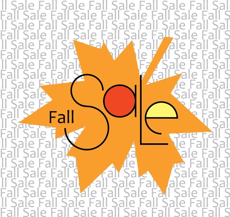 Sticker Fall Sale as a design element Stock Vector - 15915079