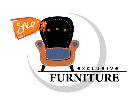 Image chair with a sticker sale Stock Vector - 15915080