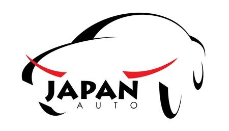 stilisiertes Bild des japanischen Auto