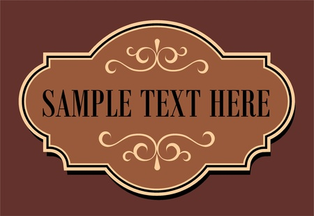 Calligraphic old elements vintage decor, vector Stock Vector - 15915066