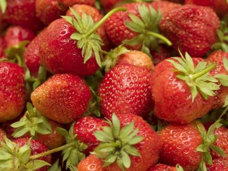 Red juicy strawberries closeup Stock Photo - 15915077
