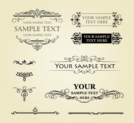 Calligraphic old elements vintage decor  Stock Vector - 17452373