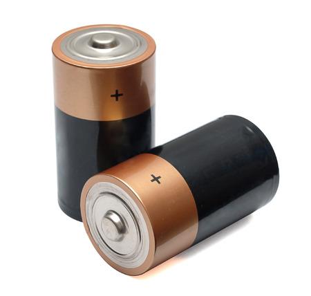 energia electrica: bater�as sobre un fondo blanco