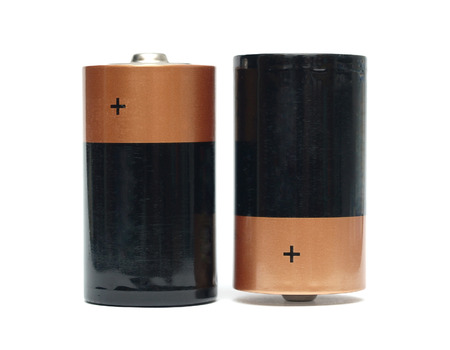 batteries on a white background