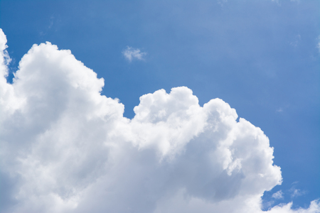 white cloud with blue sky photo