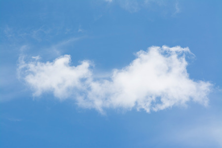 white cloud in the blue sky photo