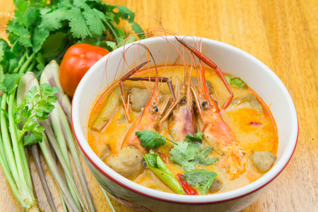 gung: Tom Yum kung,spicy shrimp soup.