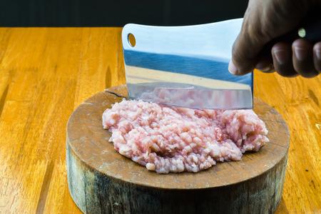 lamentation: pork is chopping on block