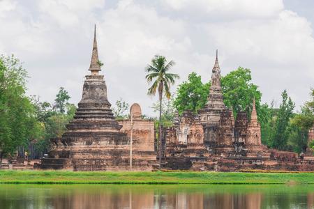 Old pagoda at Sukhothai Historical Park,Thailand 版權商用圖片