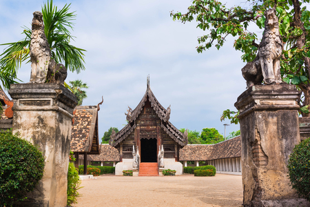 Wat Ton Kwen (Intharawat Temple) ancient and prominent temple in Chiang Mai,Thailand.