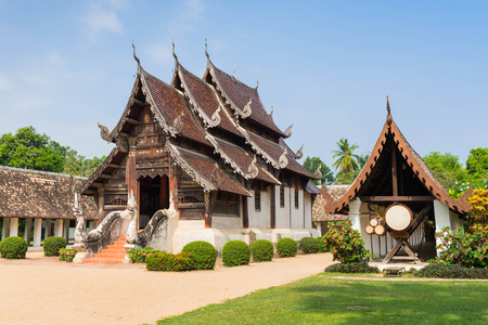 noteworthy: Wat Ton Kwen (Intharawat Temple) ancient and prominent temple in Chiang Mai,Thailand.