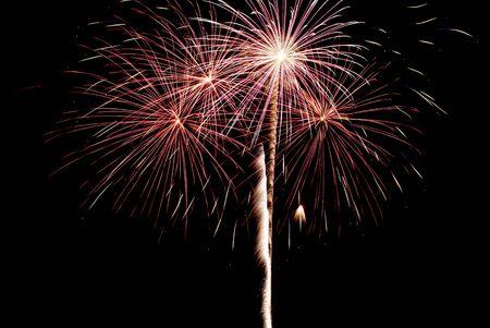 12 o'clock: Fireworks exploading in the skies