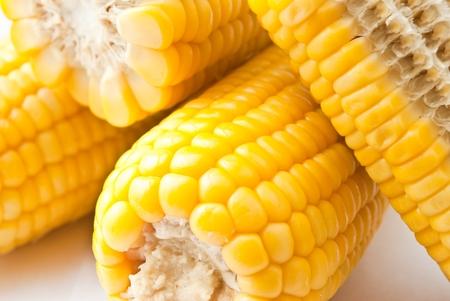 Boiled corn photo