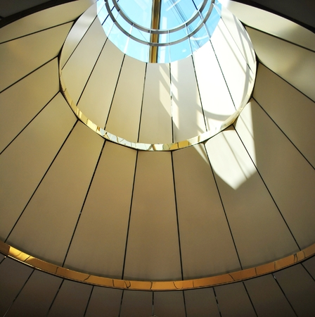 roof framework: Framework of roof with skylights, Construction and modern architecture design.