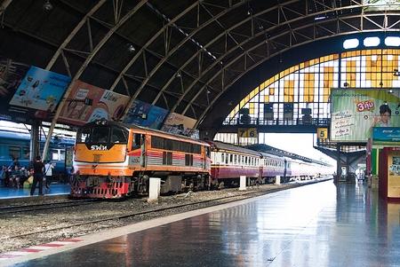 Bangkok, Thailand - January 09, 2015 Inside Bangkok Railway Station on January 09, 2015 at Bangkok Railway Station, unofficially known as Hua Lamphong Station, is the main railway station in Bangkok,Thailand. Editorial