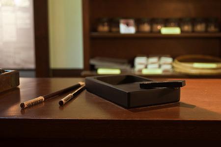 inkstone: ink-stone and writing brush,Chinese ink and writing Chinese, vintage tone.