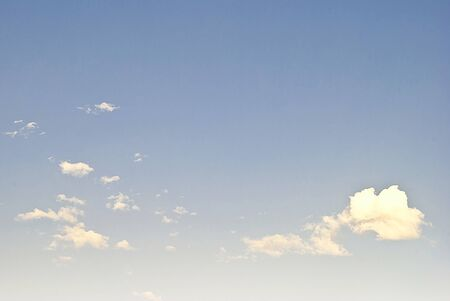 beautiful heaven: blue sky and white clouds