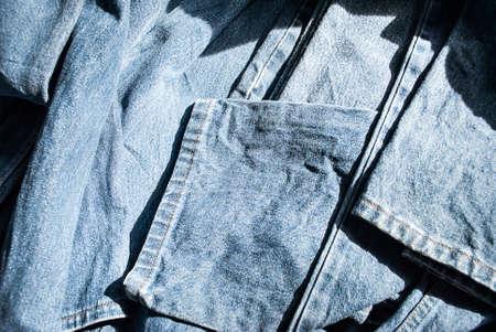 Lot of different blue jeans Blue Jeans Stock fotó