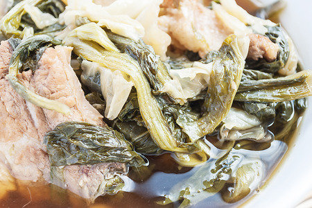 jab: Chinese vegetable stew closeup, asian food (Jab Chai) Stock Photo