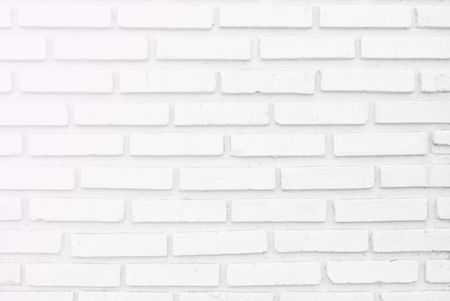 side lighting: White misty brick wall for background or texture, lighting  left side Stock Photo