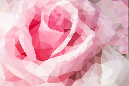 pastel flowers: pastel rose flowers polygon for background, polygonal flower design