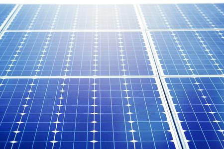 sun energy: closeup solar cell battery harness energy of the sun, alternative solar energy Stock Photo