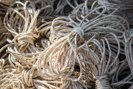 Spirale: Old rope closeup, Twisted thick rope