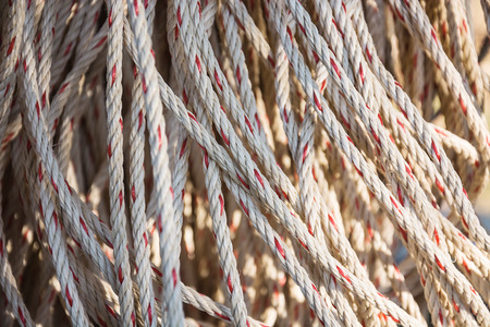 convoluted: Old rope closeup, Twisted thick rope
