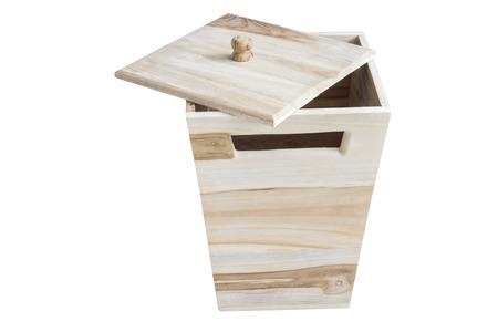 empty warehouse: wooden box isolated on white background.