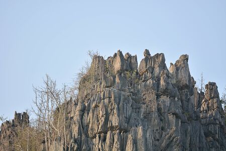 Limestone Mountains At Ban Mung, Noen Maprang, Phitsanulok Province