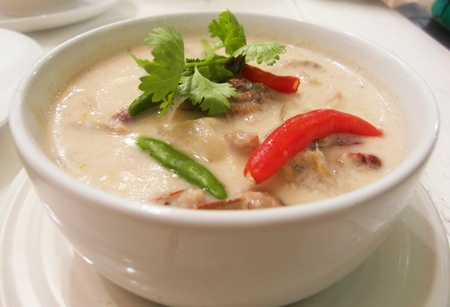 tum kha kai thai food photo