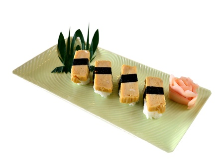 Tamago yaki is sushi using an egg photo