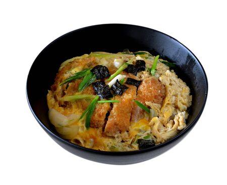 katsudon ( pork cutlet bowl ), japanese food Banco de Imagens