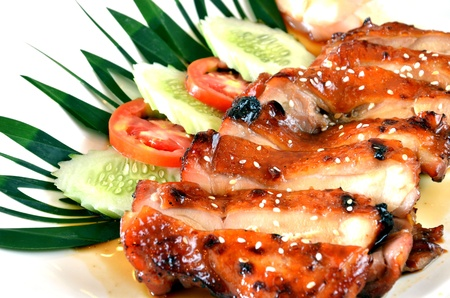 Pollo teriyaki - comida japonesa photo