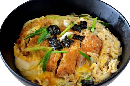 katsudon ( pork cutlet bowl ), japanese food photo