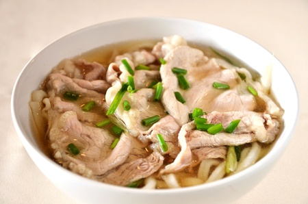 Japanese Udon noodle with pork