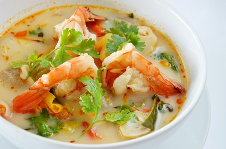 meat soup: Thai Food Tom Yum Goong