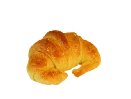Single fresh croissant