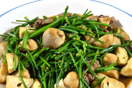 Stir-Fried Mixed Vegetables with mushroom photo
