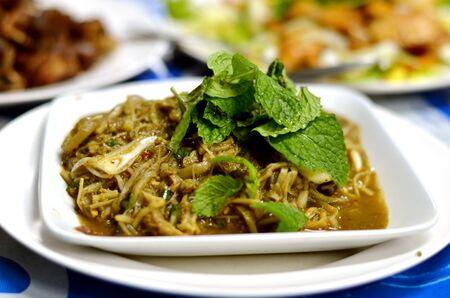 northeastern: Bamboo shoot salad in Northeastern of Thailand style