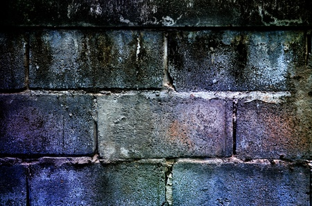sturdy: abstract colorful brick wall, old rough brick wall texture Stock Photo