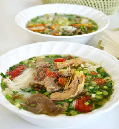 beef soup noodles , Vietnamese noodles photo