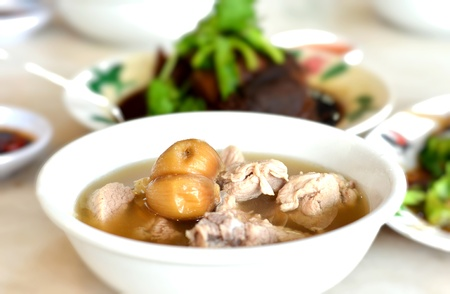 Malaysian stew of pork and herbal soup, spicy peppery soup  bak kut teh