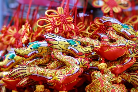Chinese new year ornaments in the market photo